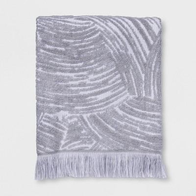 Woodgrain Fan Bath Towel Gray - Project 62™