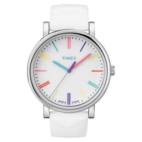 Women's Timex Originals Watch with Markers and Patent Leather Strap - White T2N7912B - image 1 of 1