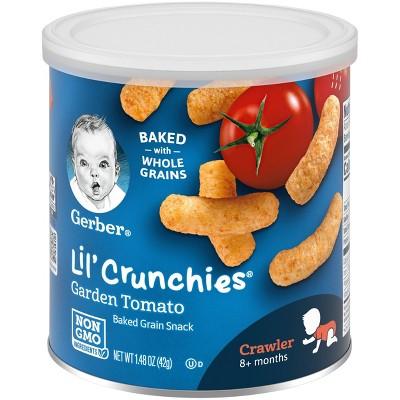 Gerber Lil' Crunchies Garden Tomato Baked Corn Baby Snacks - 1.48oz