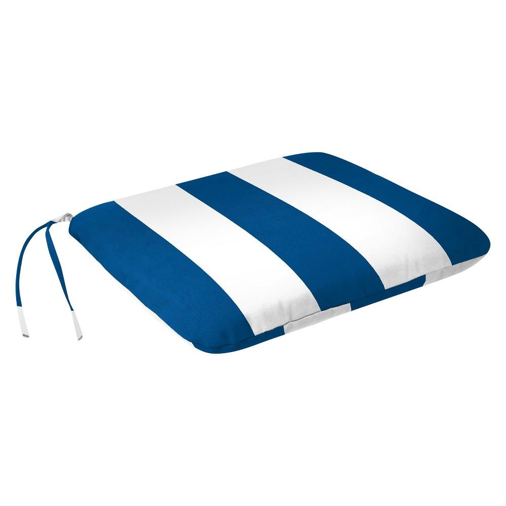 Jordan Set of Monoblock Seat Cushions - Cabana Stripe Cobalt