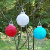3ct Turquoise Battery Operated Paper Lantern - image 3 of 3