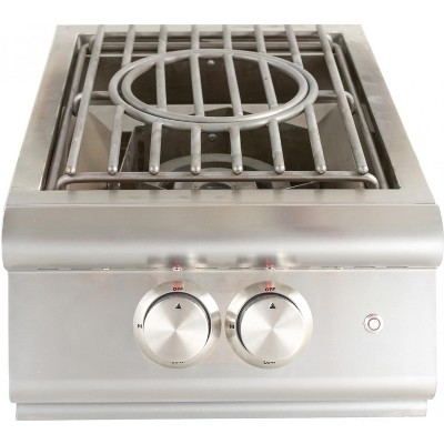 Blaze LTE Built-In Natural Gas High Performance Power Burner W/ Wok Ring & Stainless Steel Lid BLZ-PBLTE-NG