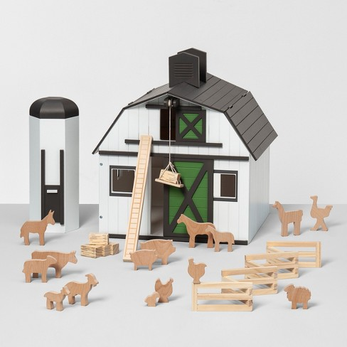Toy Barn with Animal Figurines - Hearth & Hand™ with Magnolia - image 1 of 4