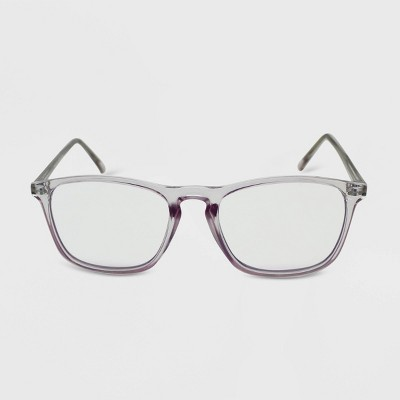 Women's Crystal Rectangle Blue Light Filtering Glasses - Wild Fable™ Purple