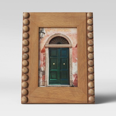 "4"" x 6"" Beaded Frame Wood - Opalhouse™"