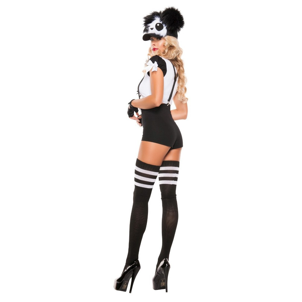 Image of Halloween Women's Hello Panda Costume Medium, MultiColored