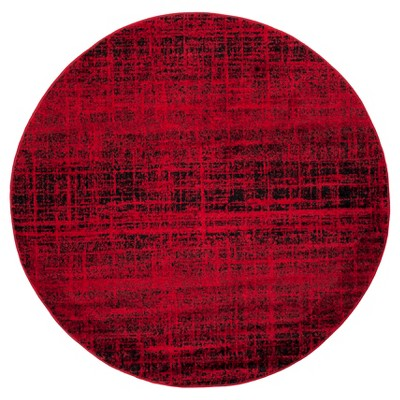 Red/Black Abstract Loomed Round Accent Rug - (4' Round)- Safavieh®