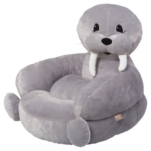 Kids Plush Walrus Character Chair - Gray - Trend Lab - image 1 of 3