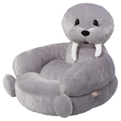 Kids Plush Walrus Character Chair   Gray   Trend Lab