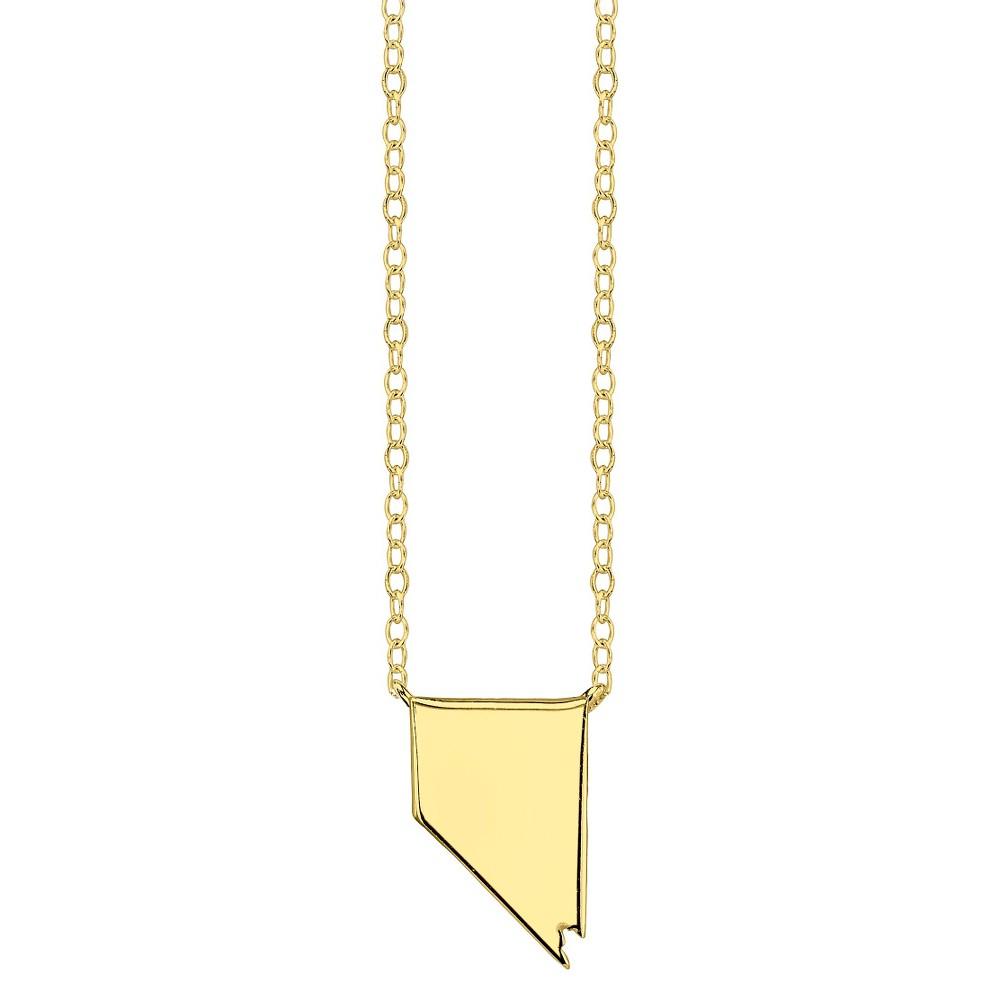 Footnotes State Pendant - Gold, Girl's, Nevada