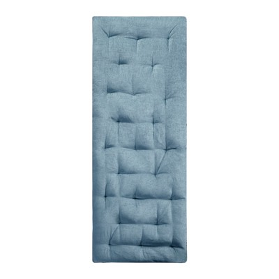 Aqua Alder Chenille Lounge Floor Pillow Cushion (27 x74 )