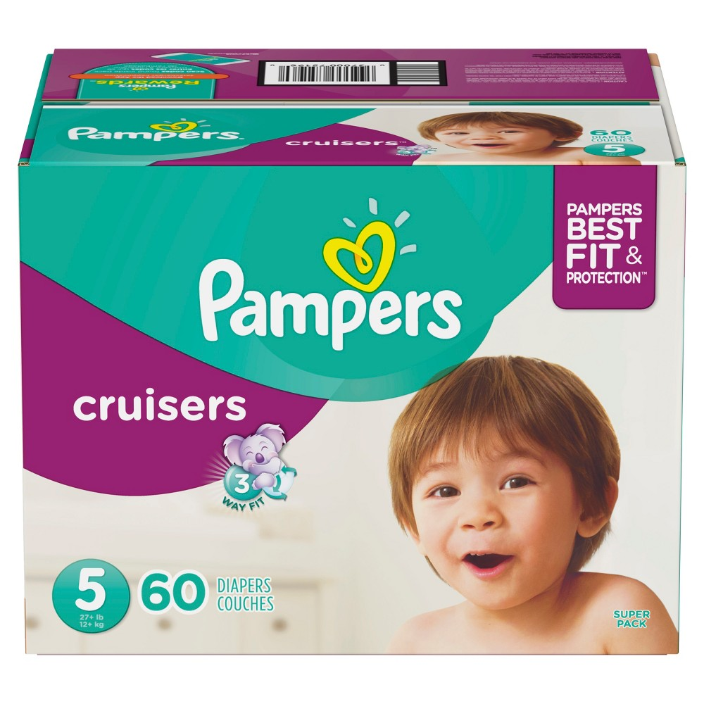 Pampers Cruisers Diapers Super Pack - Size 5 (60ct)