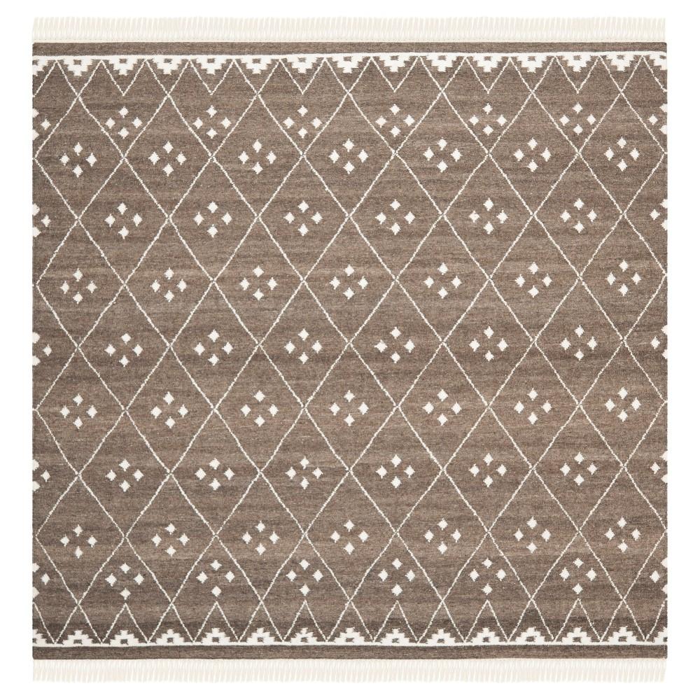 Thalasso Natural Kilim Dhurry - Brown/Ivory - (7'x7' Square) - Safavieh