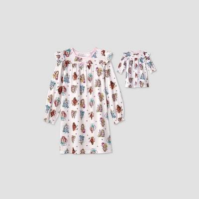 Girls' Disney Princess Doll & Me Nightgown Set - White - Disney Store