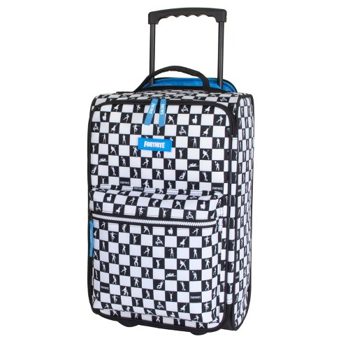"Fortnite 20"" Kids Carry On Suitcase - Black/White Check - image 1 of 4"