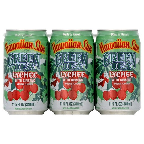 Hawaiian Sun Green Tea Lychee - 6pk/11.5 fl oz Cans - image 1 of 5