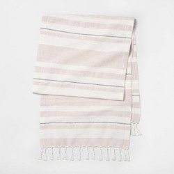 Oversized Stripe Table Runner Light Pink - Hearth & Hand™ with Magnolia