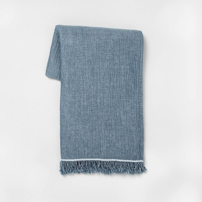 Solid Gauze Throw Blanket Blue - Hearth & Hand™ with Magnolia