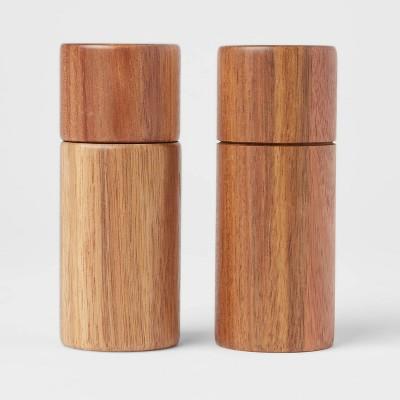 2pc Acacia Round Salt Shaker and Pepper Grinder Set - Threshold™