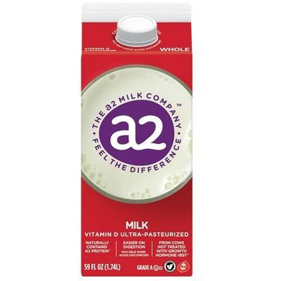 a2 Milk Whole Vitamin D Ultra-Pasteurized - 59 fl oz