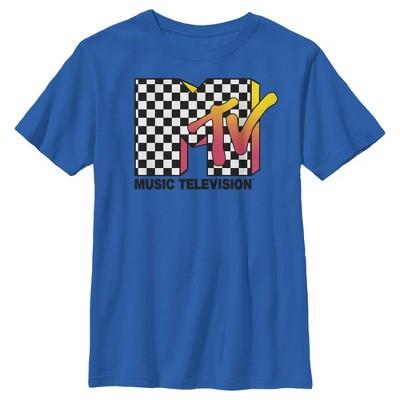 Boy's MTV Checkered Fade Logo T-Shirt