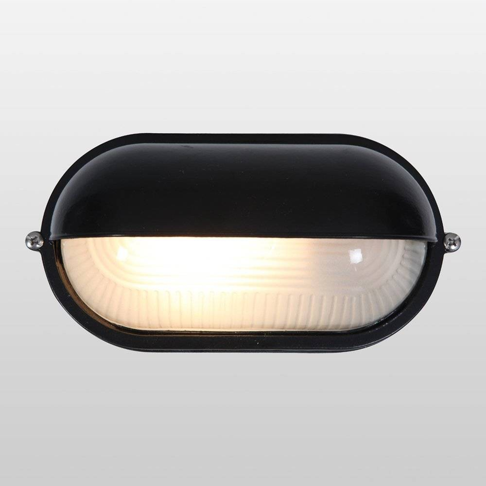 Image of Nauticus Wet Location LED Outdoor Wall Light with Frosted Glass Shade Black - Access Lighting