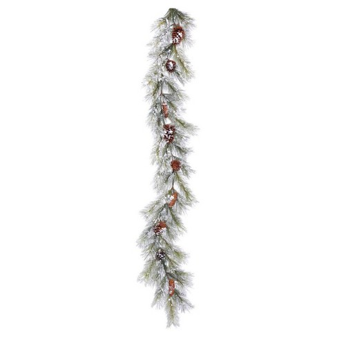 6ft. Christmas Unlit Flocked Ashville Pine Artificial Green Garland - image 1 of 1