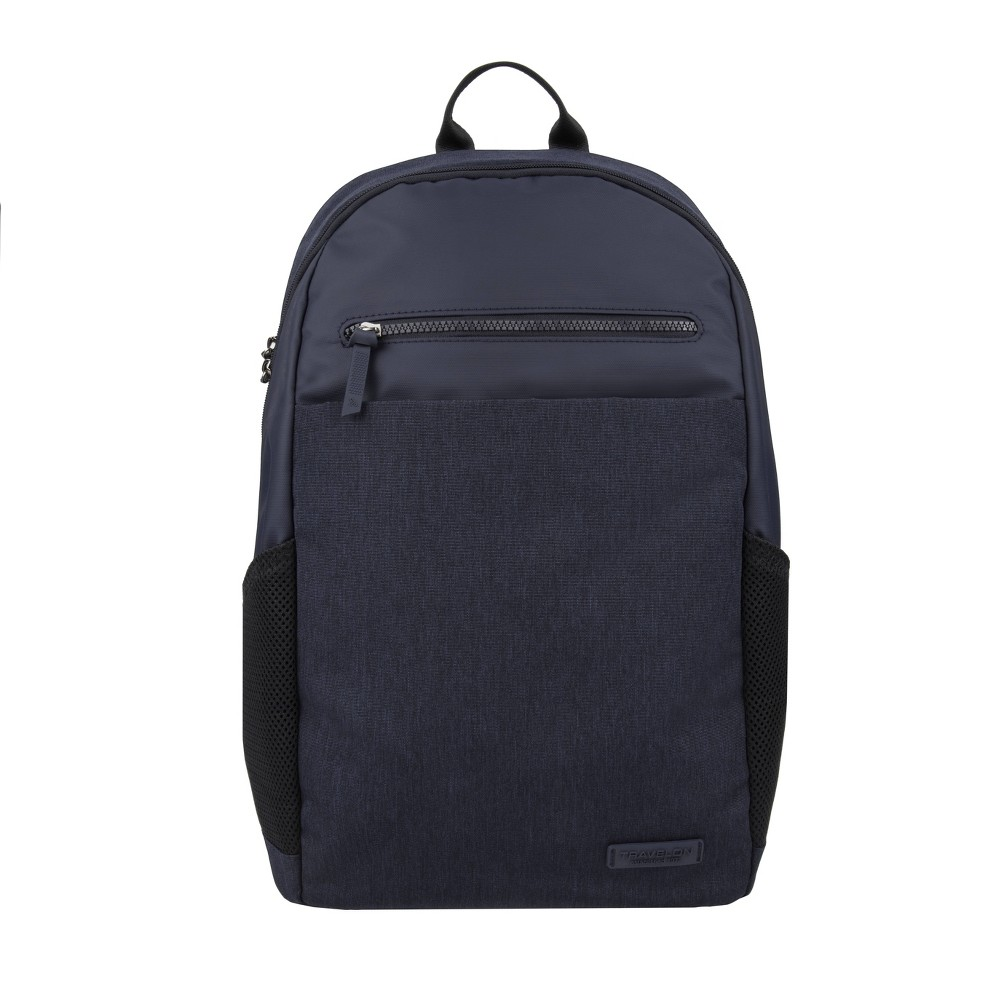 "Image of ""Travelon 17.5"""" RFID Anti-Theft Metro Backpack - Navy, Blue"""