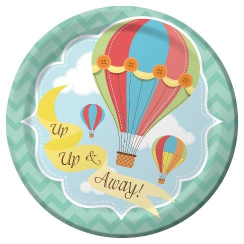 Up Up And Away Hot Air Balloon 7 Dessert Plates 8ct Target