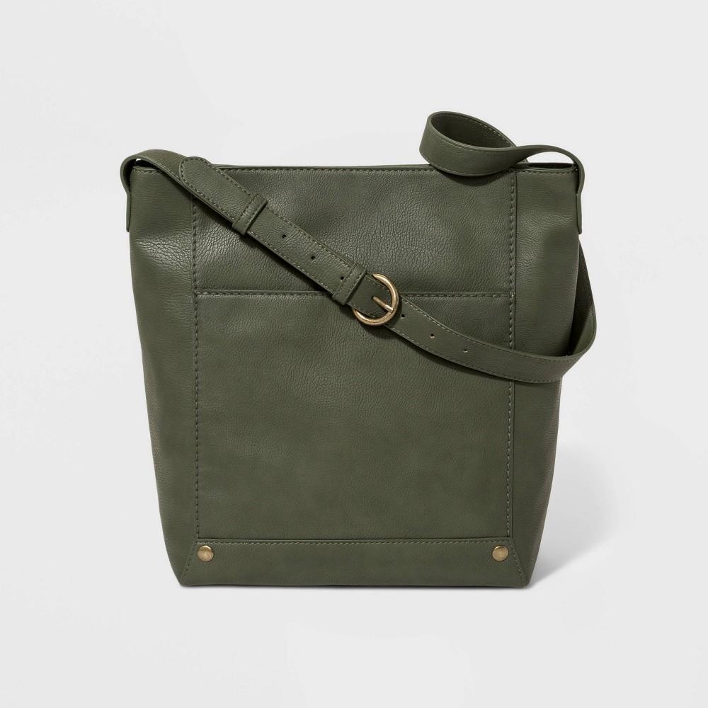 Bucket Hobo Handbag - Universal Thread Olive (Green), Women's, Size: Large