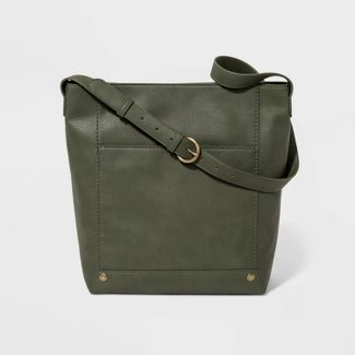 Zip Closure Bucket Bag  - Universal Thread™ Olive