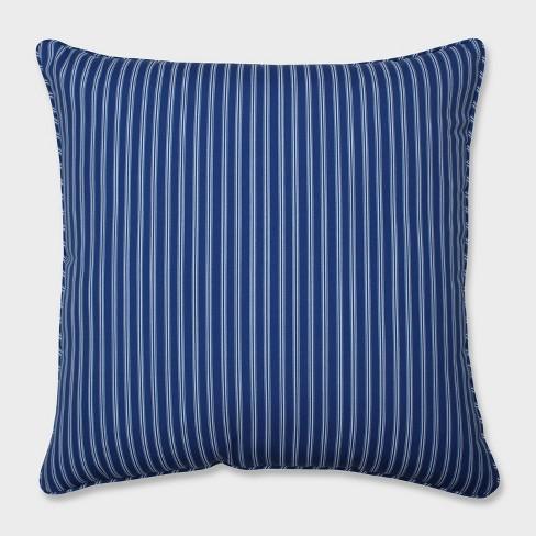 "25"" Resort Stripe Floor Pillow Blue - Pillow Perfect - image 1 of 2"