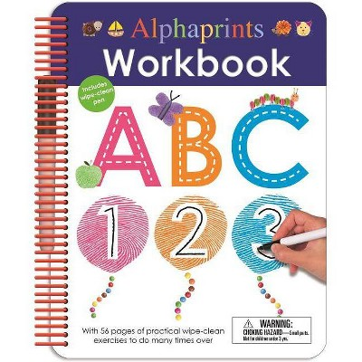 Alphaprints: Wipe Clean Workbook ABC - (Wipe Clean Activity Books) by  Roger Priddy (Spiral Bound)