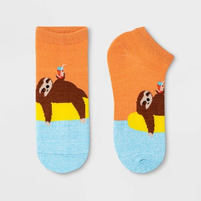 Women's SlothLow Cut Socks - Xhilaration™ Orange 4-10