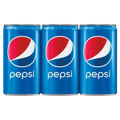 Pepsi Cola Soda - 6pk / 7.5 fl oz Mini-Cans