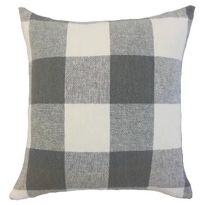 Buffalo Check Throw Pillow Coal (18 x18 )- The Pillow Collection