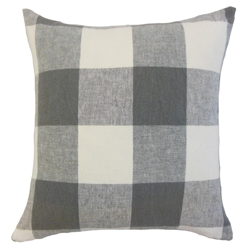 """Image of """"Buffalo Check Throw Pillow Coal (18""""""""x18"""""""") - The Pillow Collection"""""""