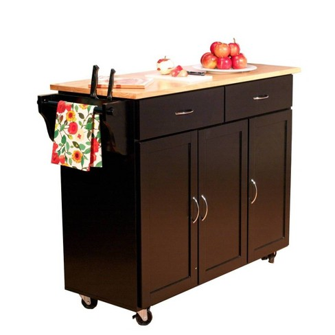 Extra Large Kitchen Cart with Wood Top - Buylateral - image 1 of 1