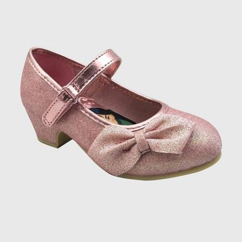 Toddler Girls' Disney Princess Ballet Flats - Rose Gold - image 1 of 3
