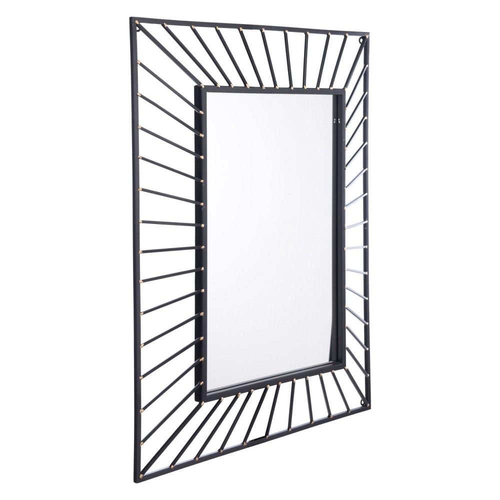 ZM Home 34 Bold Rectangular Mirror Black