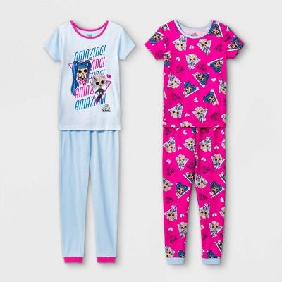 Girls' L.O.L. Surprise! 4pc Pajama Set - Blue/Pink