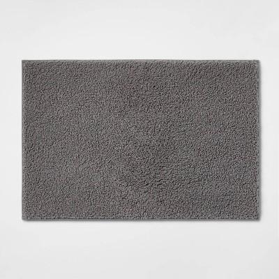 "20""x30"" Boucle Memory Foam Bath Rug Dark Gray - Room Essentials™"