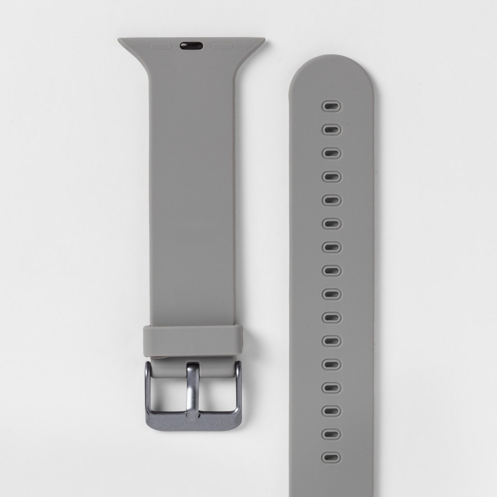 Heyday Apple Watch Band 42mm - Light Gray, Size: 42-44mm With the Apple Watch Silicone Band from heyday, you'll be able to instantly customize the look of your Apple Watch. This Apple Watch band will give you an easy way to achieve the style you love with your favorite everyday accessory. Thanks to the silicone construction, you'll also be sure to get a comfortable fit that lets you make the most of your technology. hey, you. It's time to make your day. So take a minute to live out loud, to power your look, and let your style speak volumes. Size: 42-44mm. Color: Light Gray. Gender: Unisex.