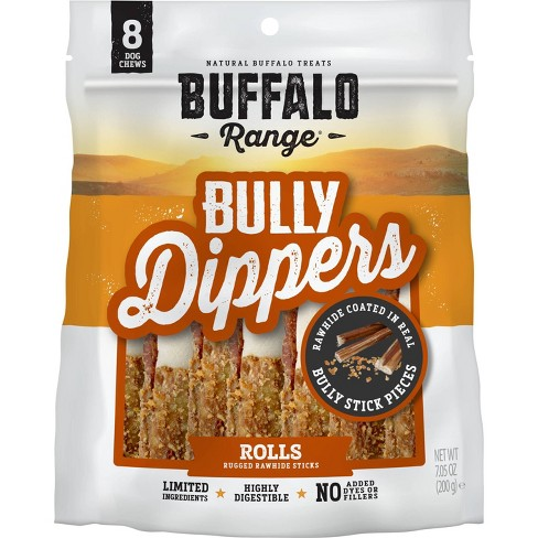 Buffalo Range Bully Dipped Roll For Dogs -8ct - image 1 of 3