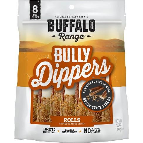 Buffalo Range Bully Dipped Roll Dog Treats - 8ct - image 1 of 3