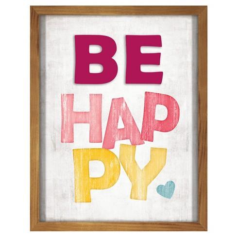 Be Happy Screen Printed Glass Art - Pillowfort™ - image 1 of 1