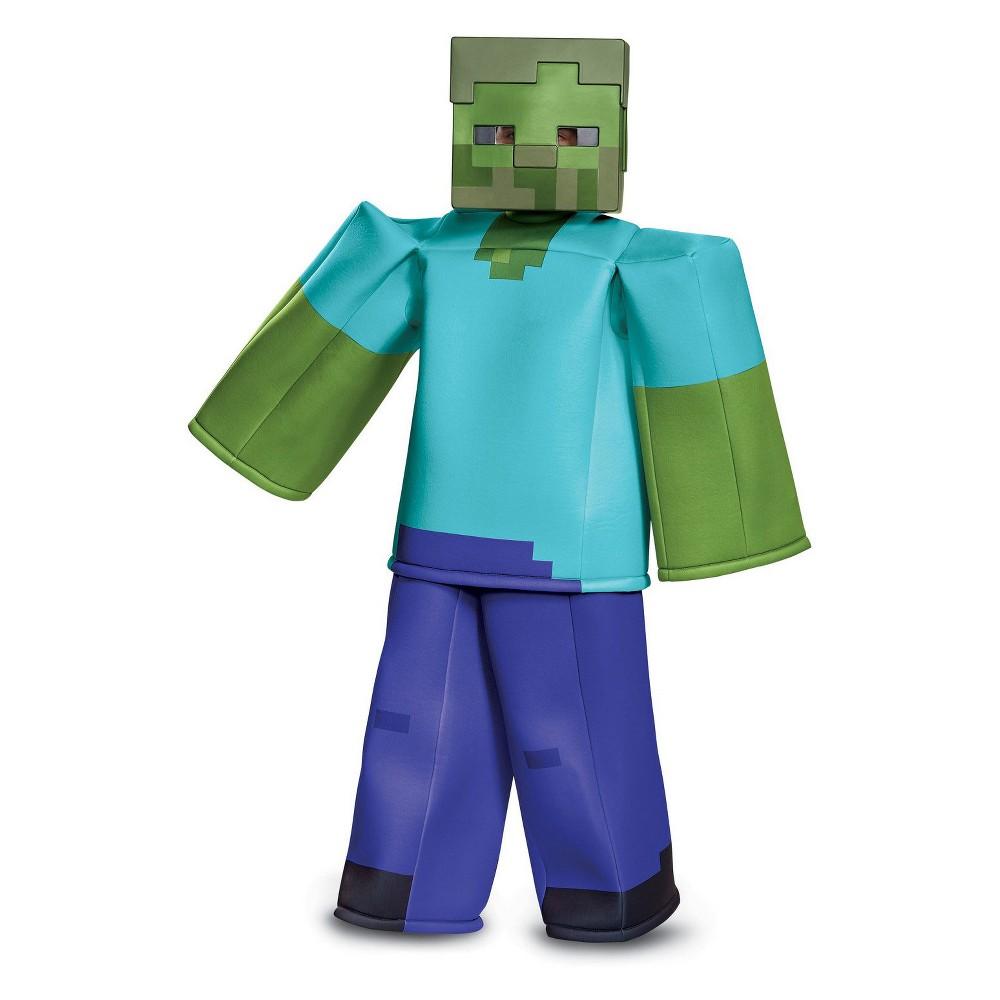 Kid's Minecraft Zombie Prestige Halloween Costume M, Boy's, Multicolored