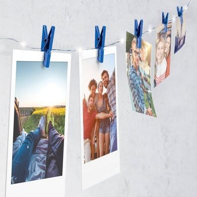 Merkury Firefly Chrome Mini Clip LED String Lights - Blue