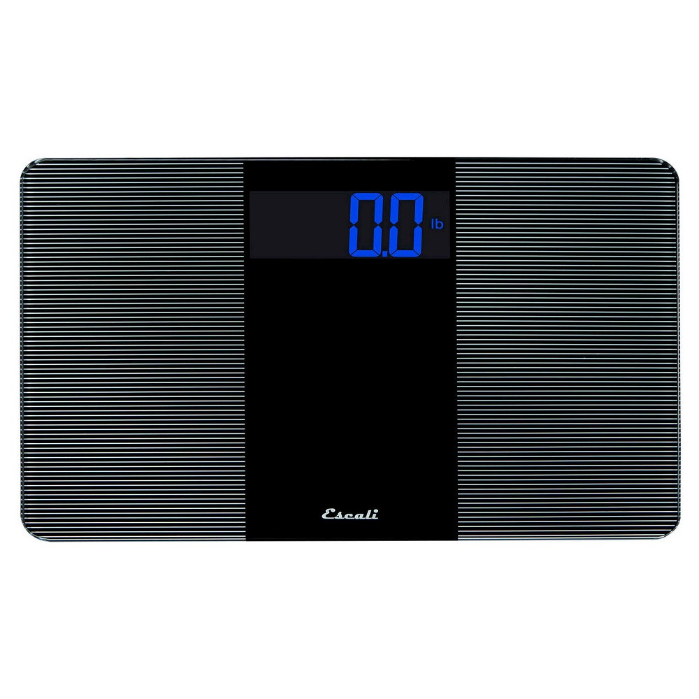 Tempered Glass Personal Scale Black - Escali, Clear