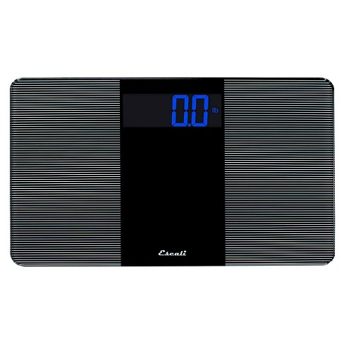 Tempered Glass Personal Scale Black - Escali - image 1 of 2